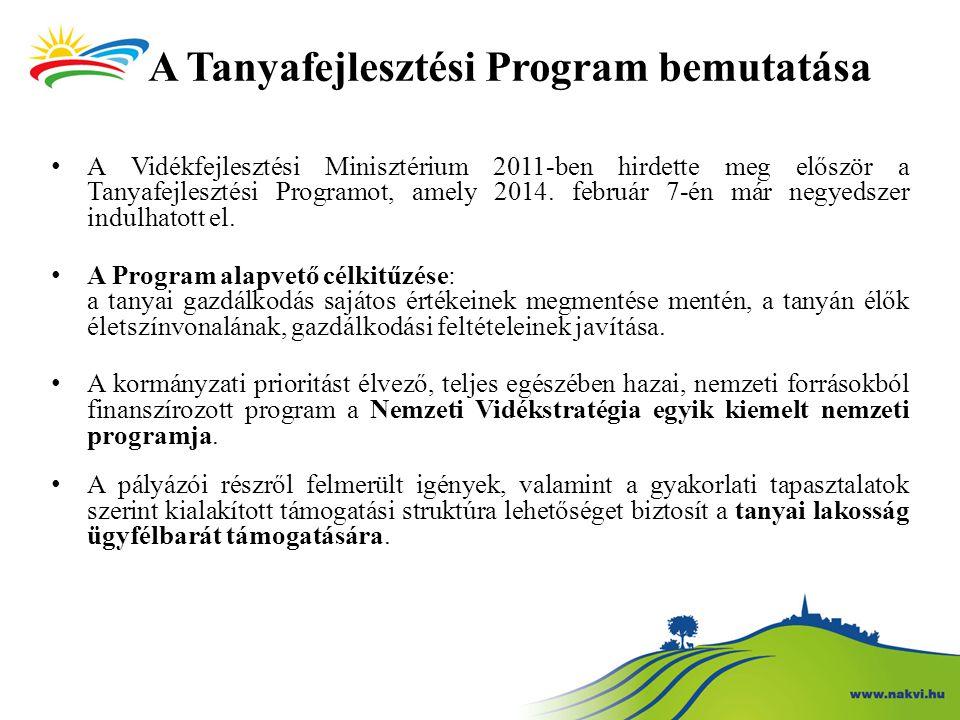 A Tanyafejlesztési Program bemutatása A Vidékfejlesztési Minisztérium 2011-ben hirdette meg először a Tanyafejlesztési Programot, amely 2014. február
