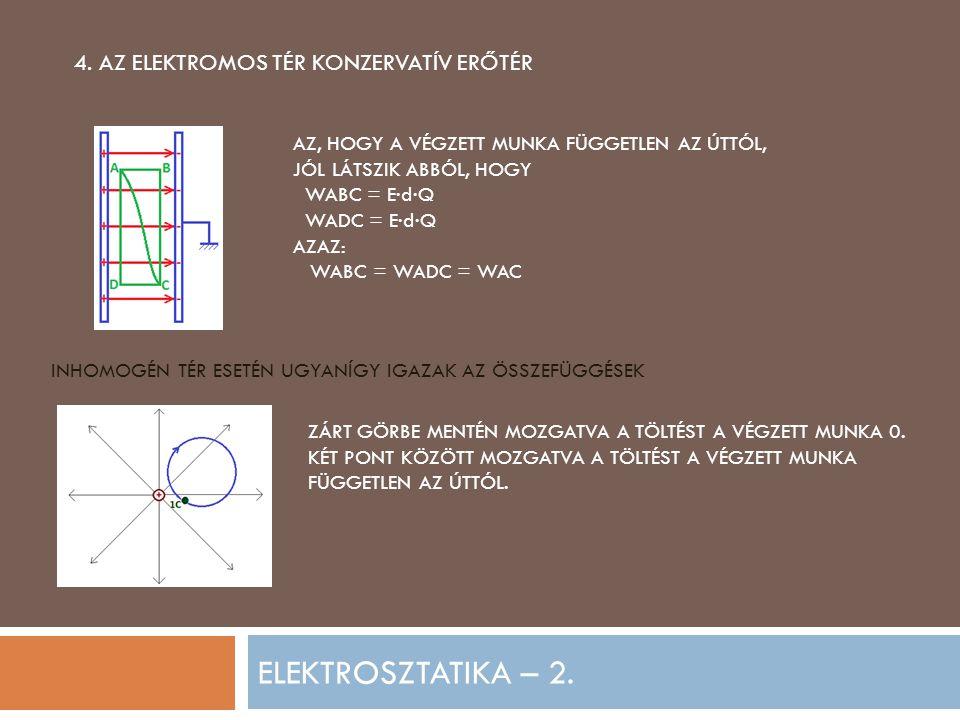 ELEKTROSZTATIKA – 2.5. FELADATOK 1.