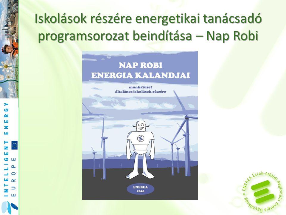 Iskolások részére energetikai tanácsadó programsorozat beindítása – Nap Robi