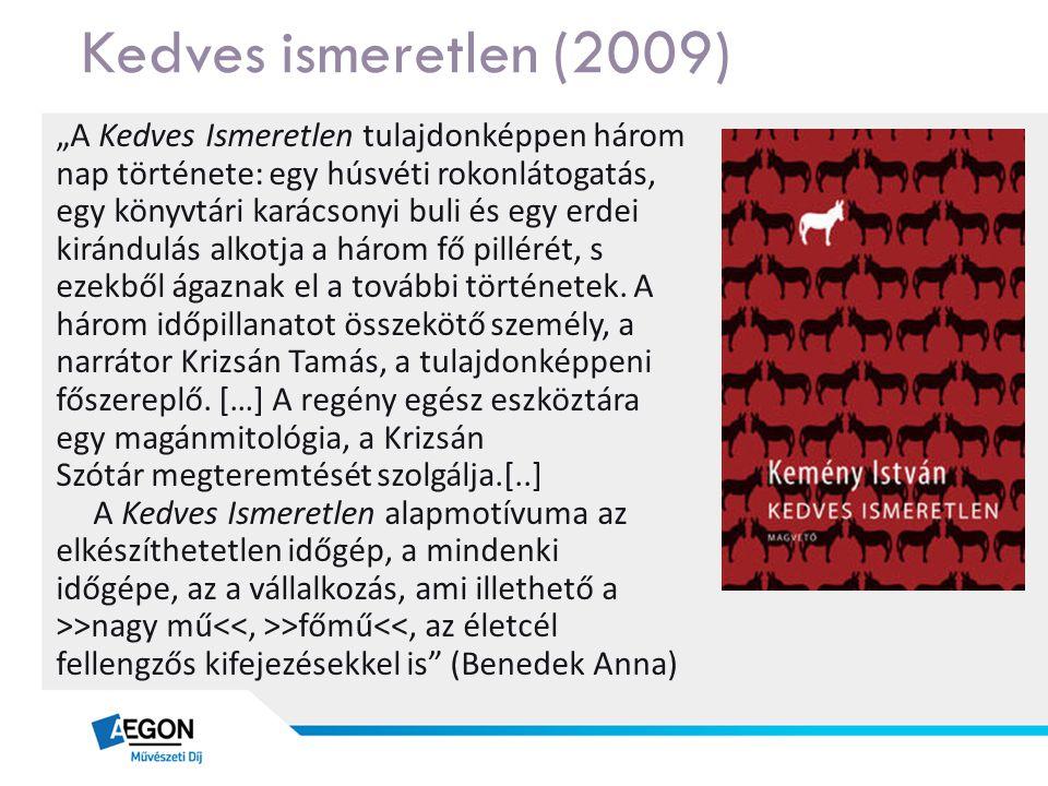 """Kedves ismeretlen (2009) """"A Kedves Ismeretlen tulajdonképpen három nap története: egy húsvéti rokonlátogatás, egy könyvtári karácsonyi buli és egy erd"""