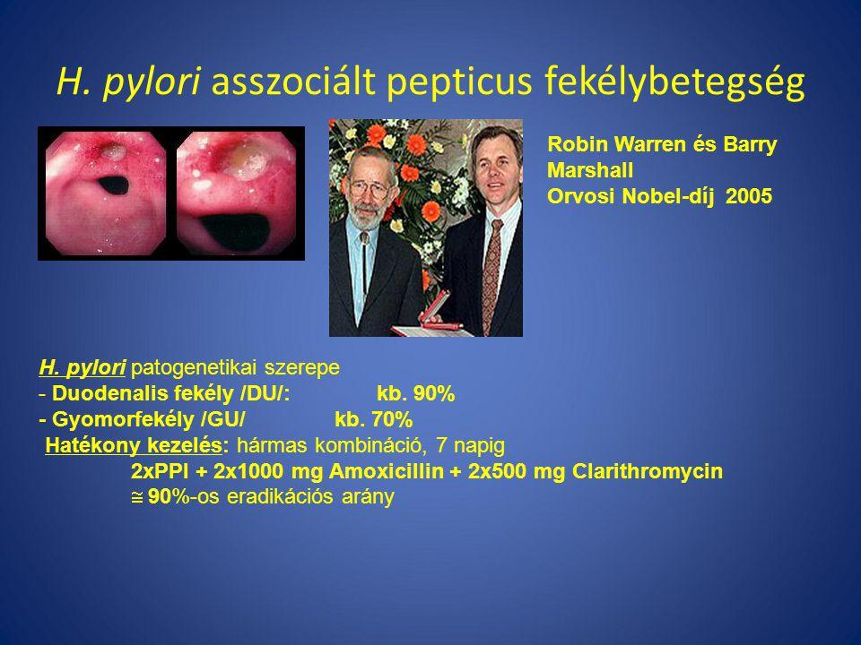 H.pylori asszociált pepticus fekélybetegség H.