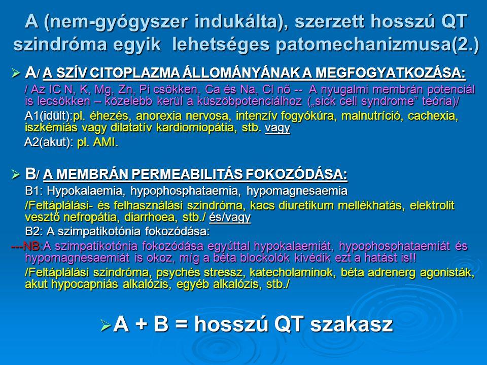 A (nem-gyógyszer indukálta), szerzett hosszú QT szindróma egyik lehetséges patomechanizmusa(2.)  A / A SZÍV CITOPLAZMA ÁLLOMÁNYÁNAK A MEGFOGYATKOZÁSA