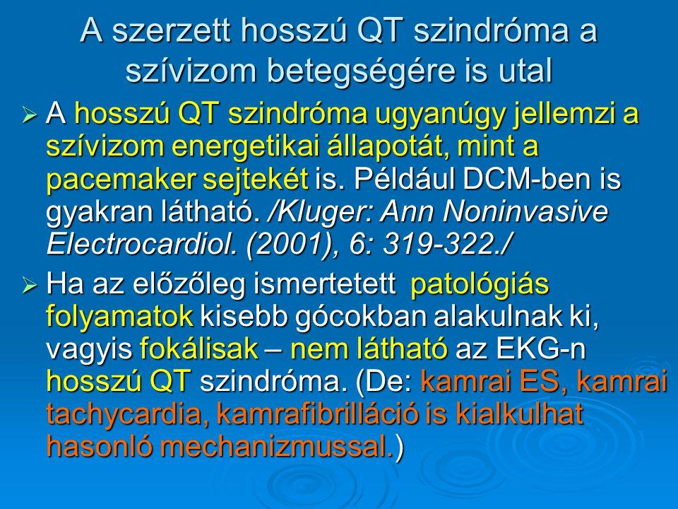 A szerzett hosszú QT szindróma a szívizom betegségére is utal  A hosszú QT szindróma ugyanúgy jellemzi a szívizom energetikai állapotát, mint a pacem