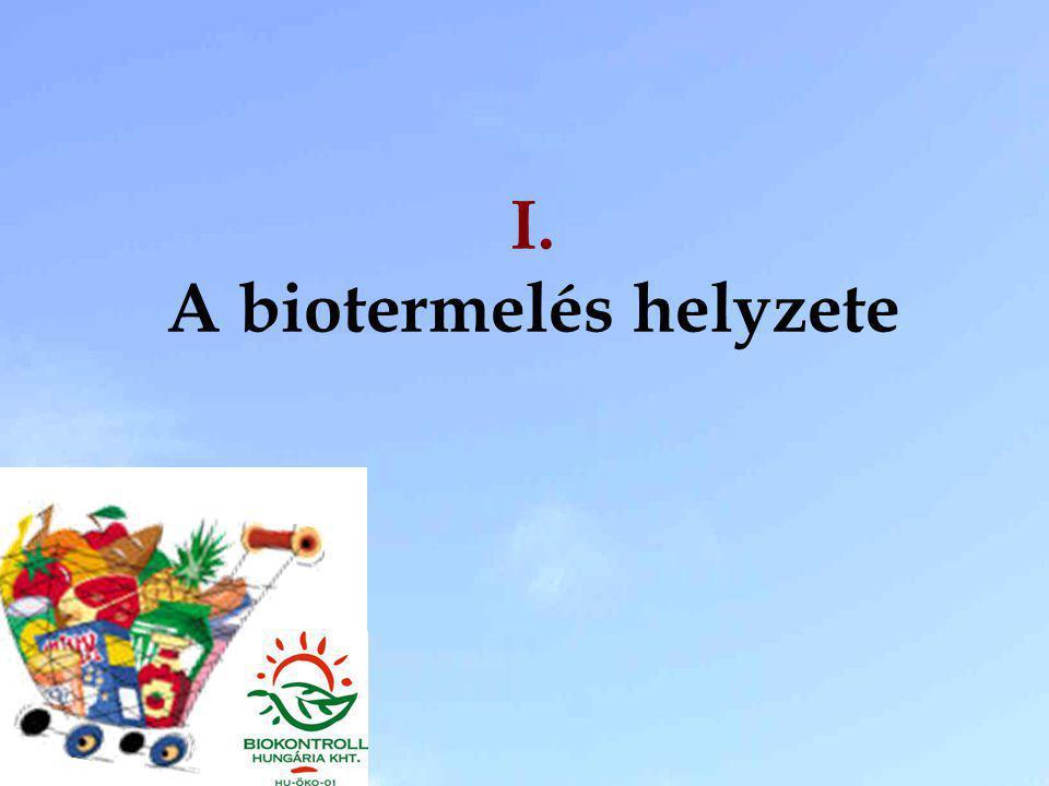 I. A biotermelés helyzete