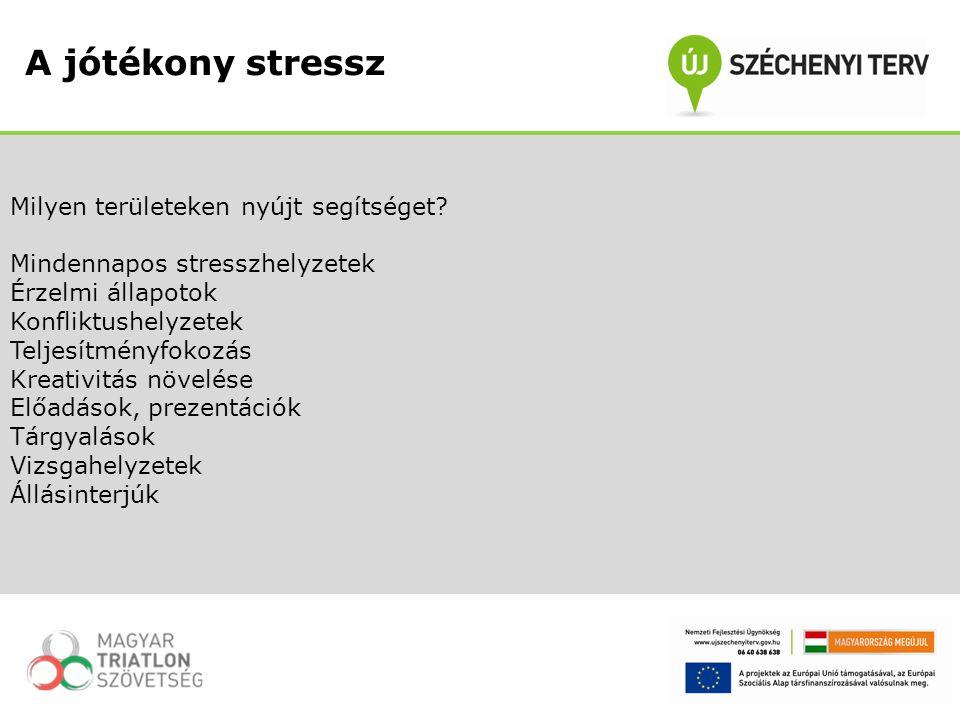 Milyen területeken nyújt segítséget? Mindennapos stresszhelyzetek Érzelmi állapotok Konfliktushelyzetek Teljesítményfokozás Kreativitás növelése Előad