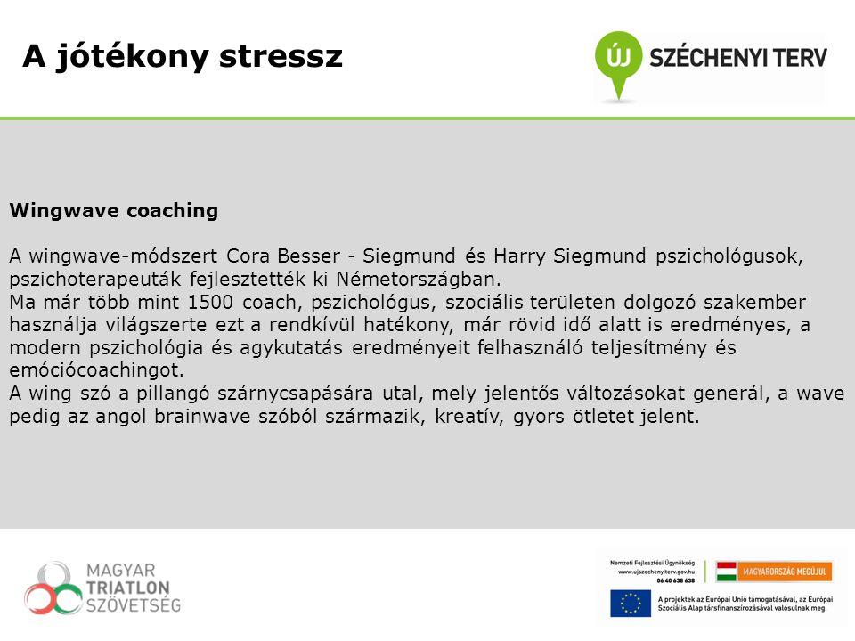 Wingwave coaching A wingwave-módszert Cora Besser - Siegmund és Harry Siegmund pszichológusok, pszichoterapeuták fejlesztették ki Németországban. Ma m