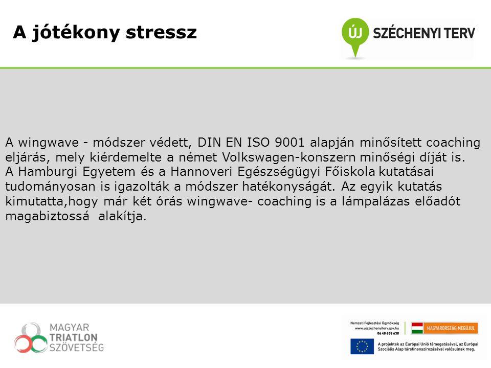 A wingwave - módszer védett, DIN EN ISO 9001 alapján minősített coaching eljárás, mely kiérdemelte a német Volkswagen-konszern minőségi díját is. A Ha