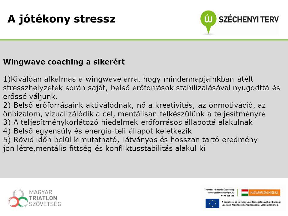Wingwave coaching a sikerért 1)Kiválóan alkalmas a wingwave arra, hogy mindennapjainkban átélt stresszhelyzetek során saját, belső erőforrások stabili