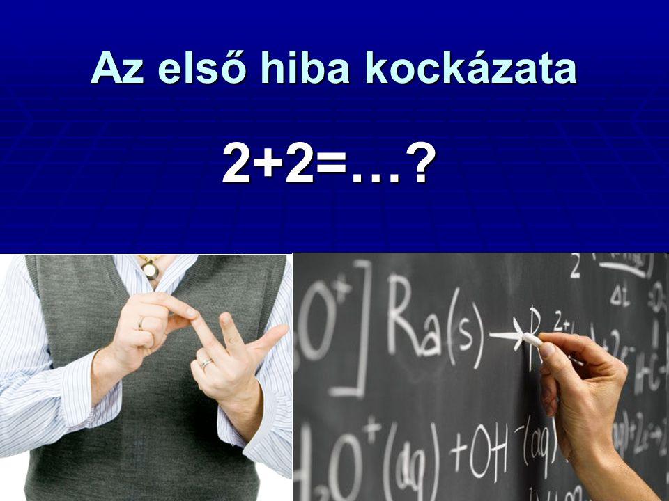 Az első hiba kockázata 2+2=…?