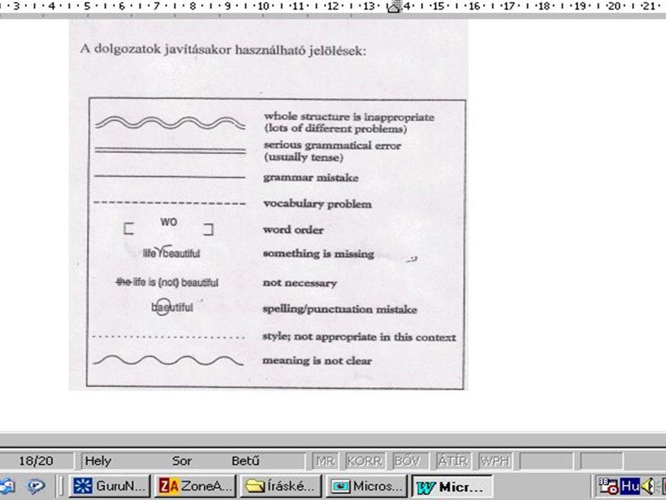 Tisztázni kell: 4 a levél/cikk terjedelmét 4 a tervezési szakaszban a formai sajátosságokat 4 a szöveg nyelvi jellemzőit 4 szerkezeti felépítését 4 be