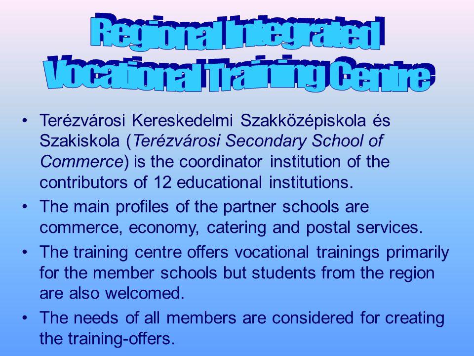 Terézvárosi Kereskedelmi Szakközépiskola és Szakiskola (Terézvárosi Secondary School of Commerce) is the coordinator institution of the contributors of 12 educational institutions.