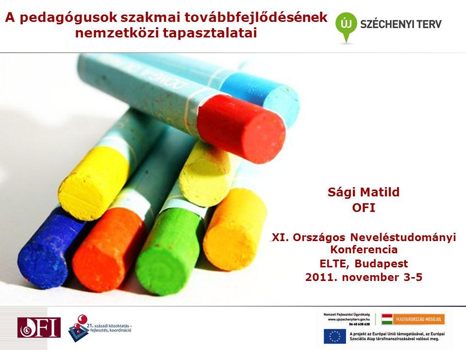 A pedagógusok szakmai továbbfejlődésének nemzetközi tapasztalatai Sági Matild OFI XI.