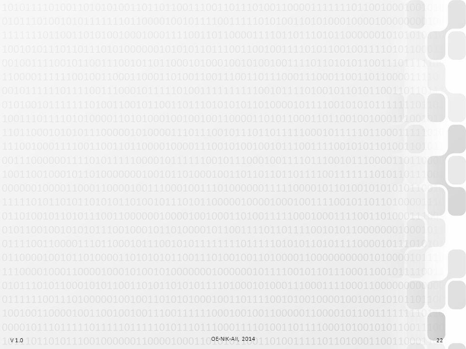 V 1.0 OE-NIK-AII, 2014 22