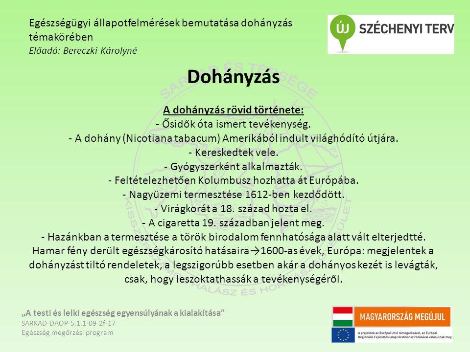 A dohányzás, mint szenvedélybetegség - A dohányzás a szenvedélybetegségek közé tartozik.