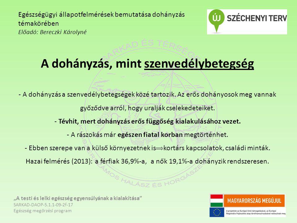 Felhasznált irodalom: www.egeszseg.hu Kovács G, Manchin R.