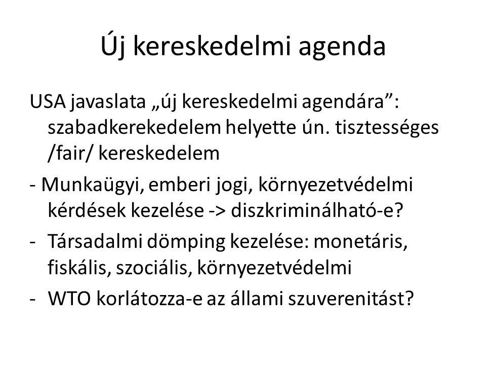 """Új kereskedelmi agenda USA javaslata """"új kereskedelmi agendára"""": szabadkerekedelem helyette ún. tisztességes /fair/ kereskedelem - Munkaügyi, emberi j"""
