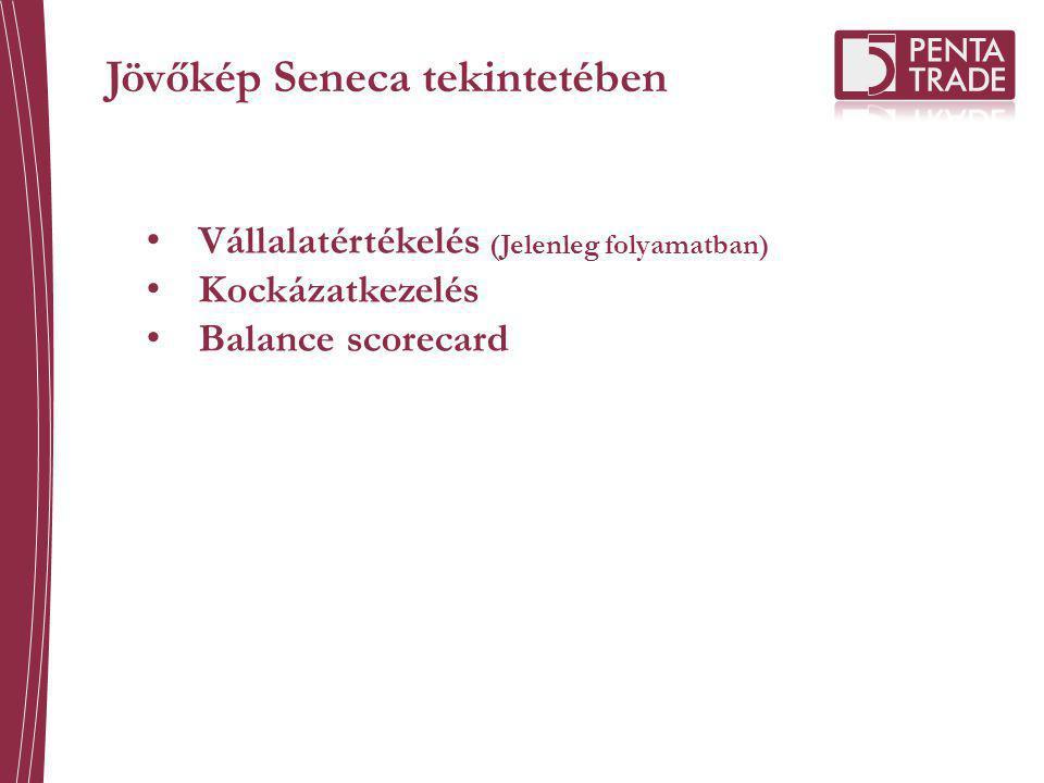 Jövőkép Seneca tekintetében Vállalatértékelés (Jelenleg folyamatban) Kockázatkezelés Balance scorecard
