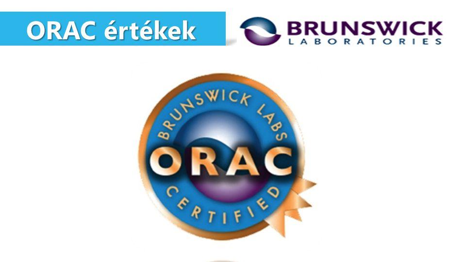ORAC értékek ORAC értékek 201.200 241.900 micromole TE / 100g