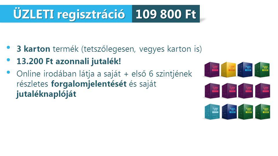ÜZLETI regisztráció ÜZLETI regisztráció 3 karton termék (tetszőlegesen, vegyes karton is) 13.200 Ft azonnali jutalék! Online irodában látja a saját +