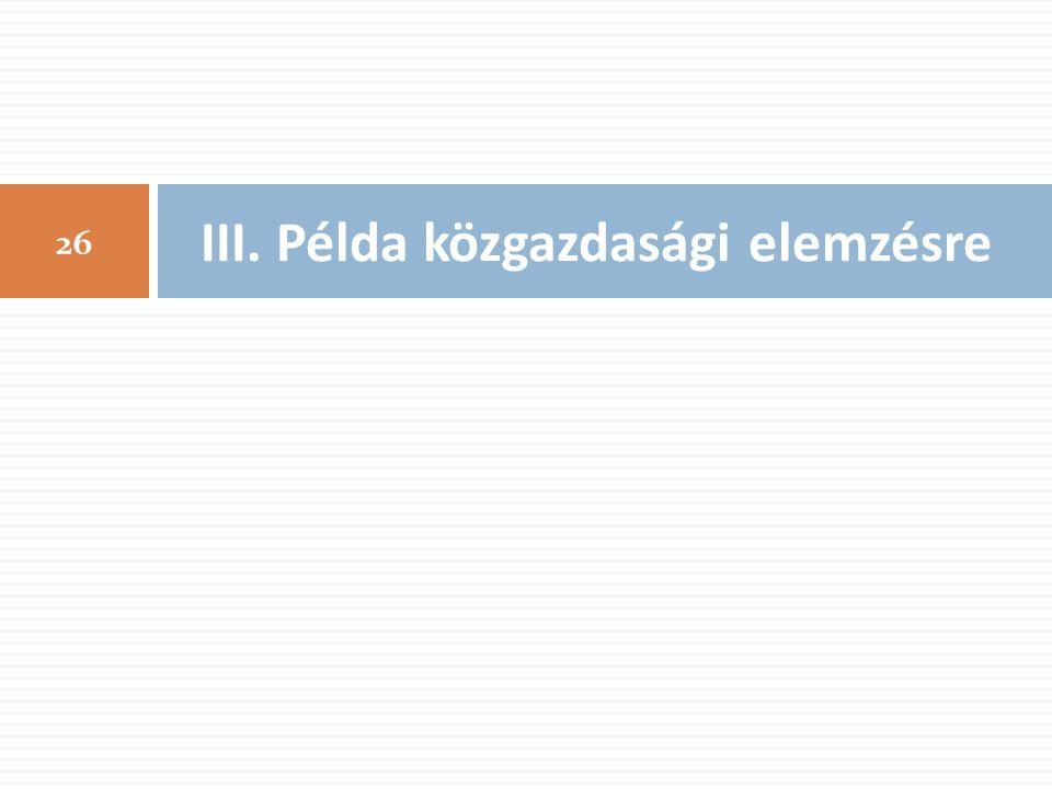 III. Példa közgazdasági elemzésre 26