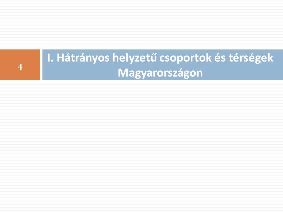 I. Hátrányos helyzetű csoportok és térségek Magyarországon 4