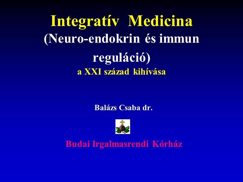 Integratív Medicina Integratív Medicina (Neuro-endokrin és immun reguláció) a XXI század kihívása Balázs Csaba dr.