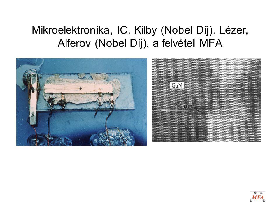 Mikroelektronika, IC, Kilby (Nobel Díj), Lézer, Alferov (Nobel Díj), a felvétel MFA