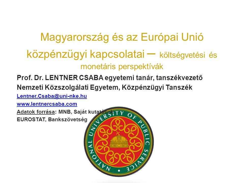 Magyarország és az Európai Unió közpénzügyi kapcsolatai – költségvetési és monetáris perspektívák Prof.