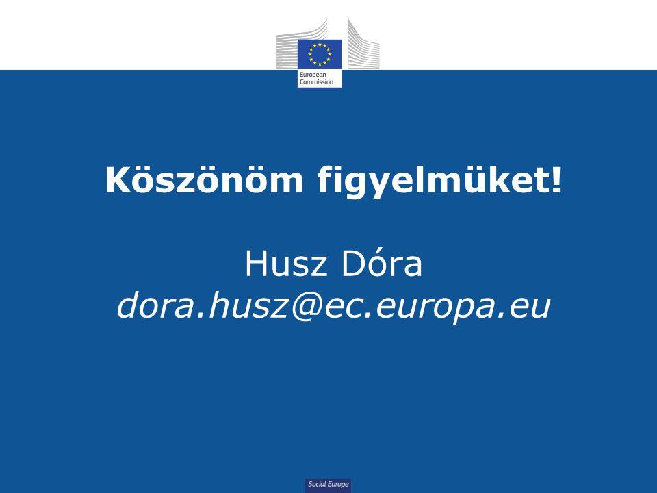 Social Europe Köszönöm figyelmüket! Husz Dóra dora.husz@ec.europa.eu