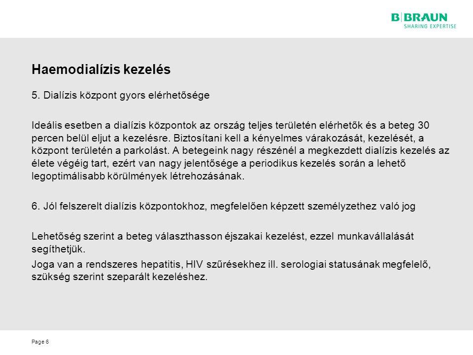 Page6 Haemodialízis kezelés 5.