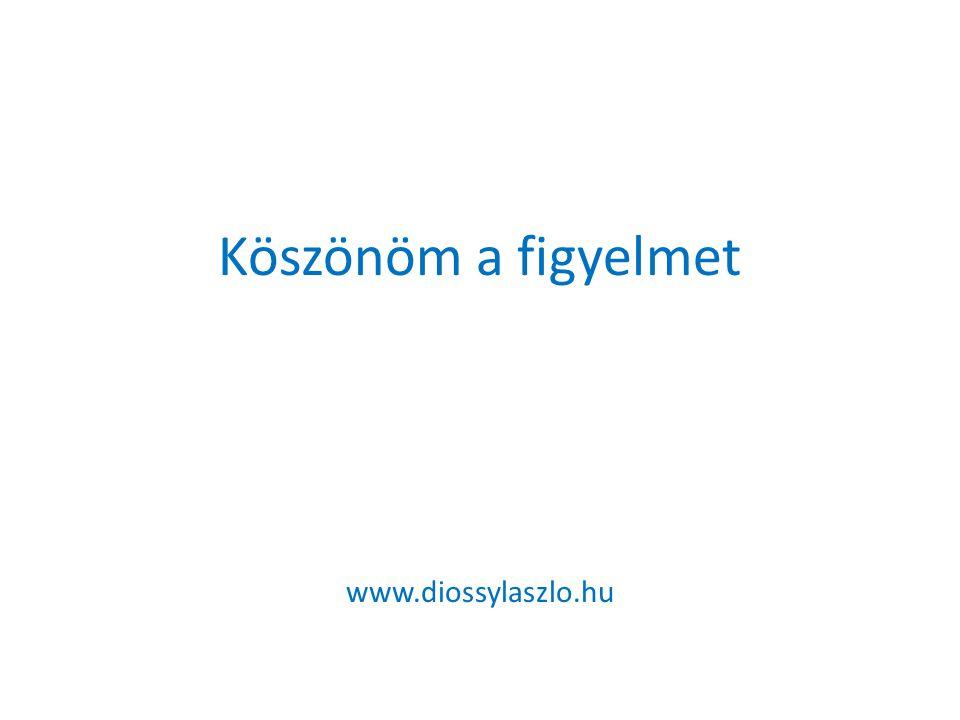 Köszönöm a figyelmet www.diossylaszlo.hu