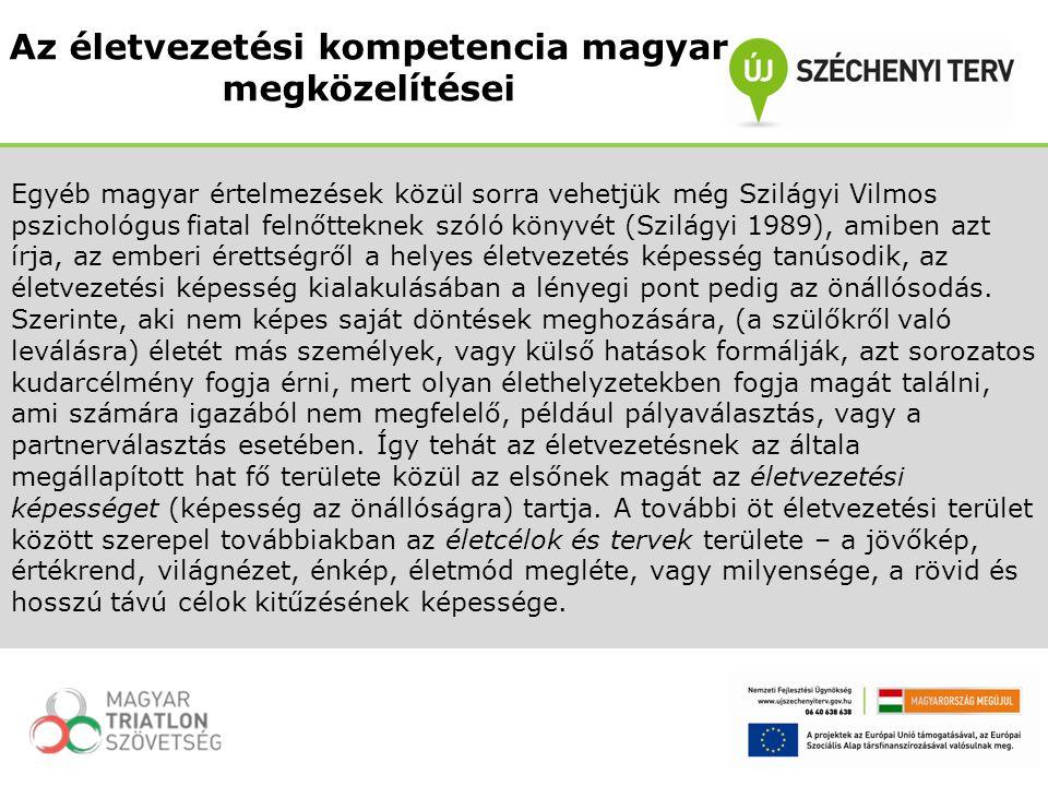 Egyéb magyar értelmezések közül sorra vehetjük még Szilágyi Vilmos pszichológus fiatal felnőtteknek szóló könyvét (Szilágyi 1989), amiben azt írja, az