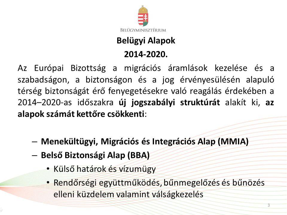 Belügyi Alapok 2014-2020. Az Európai Bizottság a migrációs áramlások kezelése és a szabadságon, a biztonságon és a jog érvényesülésén alapuló térség b