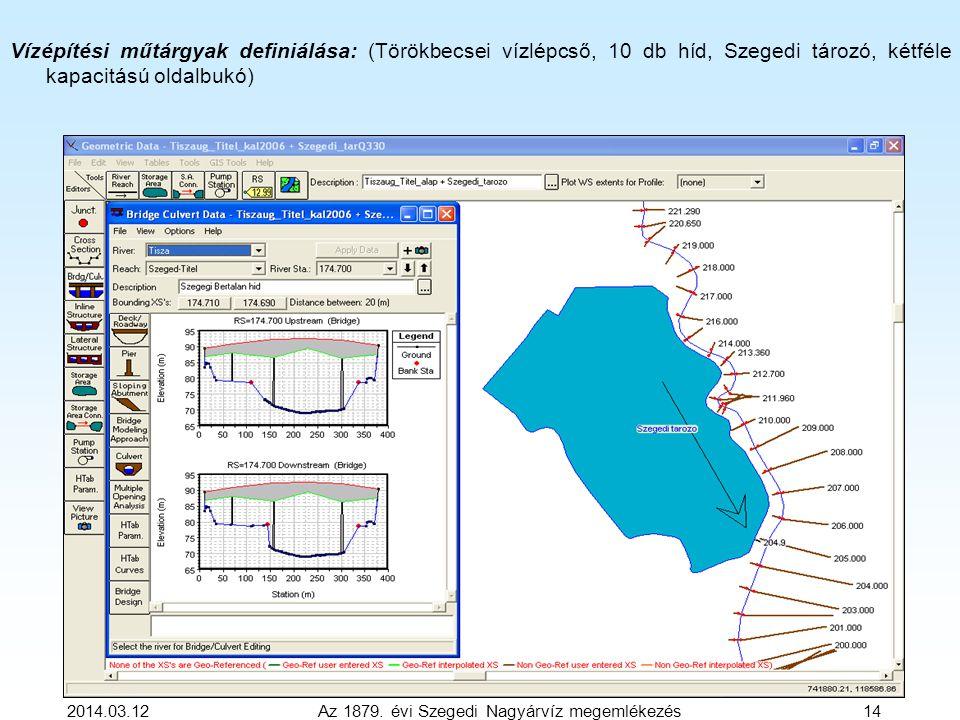 2014.03.12 Az 1879. évi Szegedi Nagyárvíz megemlékezés 14 Vízépítési műtárgyak definiálása: (Törökbecsei vízlépcső, 10 db híd, Szegedi tározó, kétféle