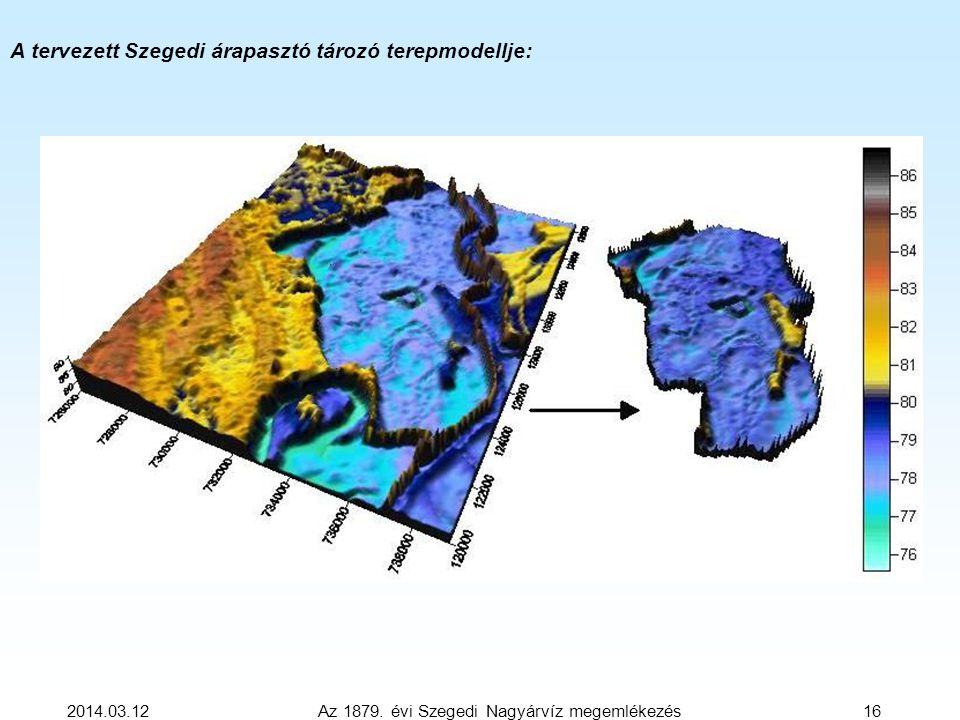 2014.03.12 Az 1879. évi Szegedi Nagyárvíz megemlékezés 16 A tervezett Szegedi árapasztó tározó terepmodellje: