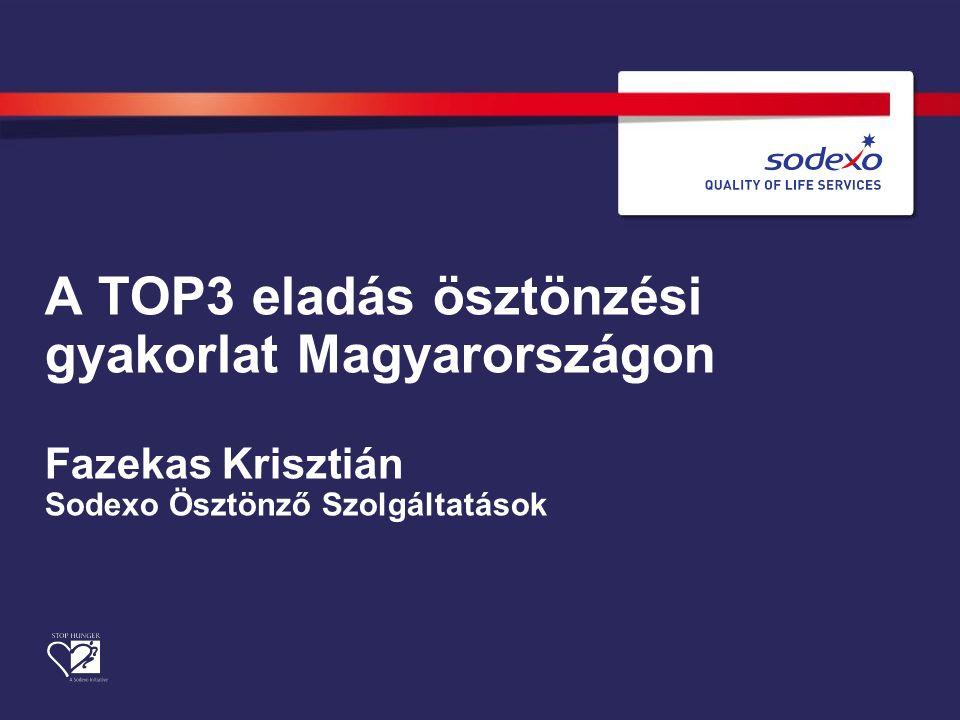 A TOP3 eladás ösztönzési gyakorlat Magyarországon Fazekas Krisztián Sodexo Ösztönző Szolgáltatások