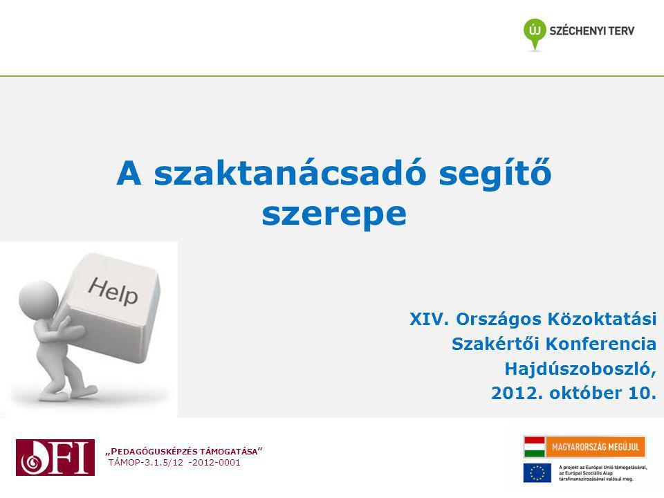 """""""P EDAGÓGUSKÉPZÉS TÁMOGATÁSA TÁMOP-3.1.5/12 -2012-0001 Jogszabályi háttér 10/1994 (V.13.) MKM rendelet 8."""