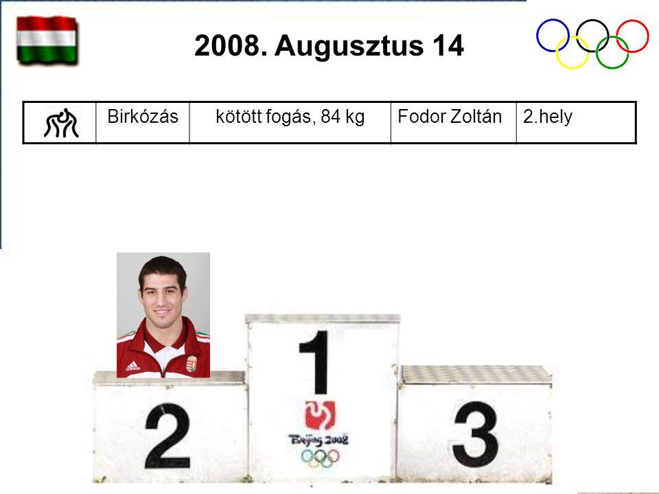 Úszásférfiak, 200 m vegyesCseh László2.hely 2008. Augusztus 15