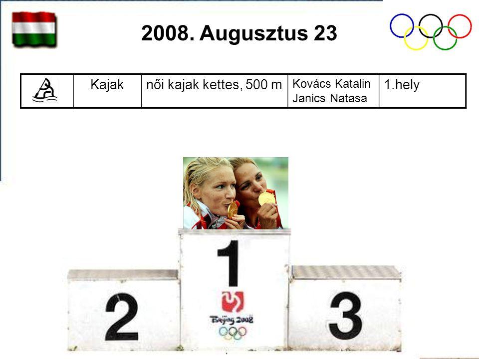 Kajaknői kajak kettes, 500 m Kovács Katalin Janics Natasa 1.hely 2008. Augusztus 23