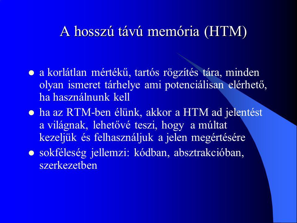 A hosszú távú memória (HTM) a korlátlan mértékű, tartós rögzítés tára, minden olyan ismeret tárhelye ami potenciálisan elérhető, ha használnunk kell h