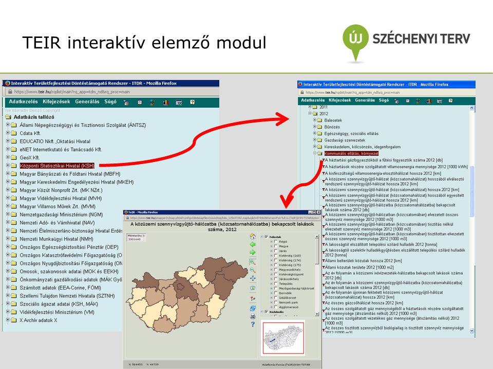 TEIR interaktív elemző modul