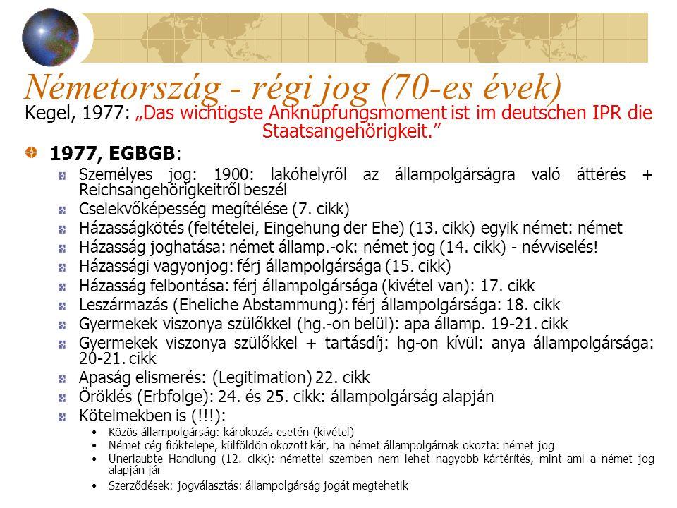 Németország új jog 2014, EGBGB: Personalstatut: maradt Jog és Cselekvőképesség megítélése (5.