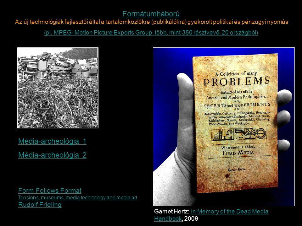 Garnet Hertz: In Memory of the Dead Media Handbook, 2009In Memory of the Dead Media Handbook Média-archeológia 1 Média-archeológia 2 Form Follows Form