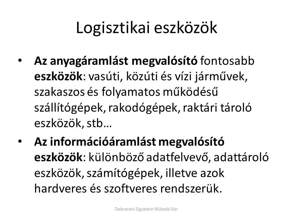 A vállalati logisztikai rendszerekkel kapcsolatos alapfogalmak Információáram: ahhoz szükséges, hogy az anyagáramot (a beszerzési piactól a felhasználókig) követni és irányítani lehessen (újabban humán erőforrás menedzsmentnek is nevezik) (lásd: következő dia).