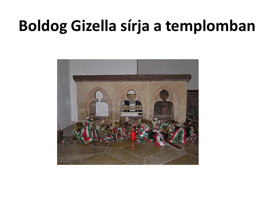 Boldog Gizella sírja a templomban