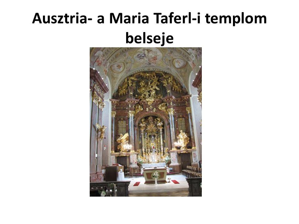Ausztria- a Maria Taferl-i templom belseje