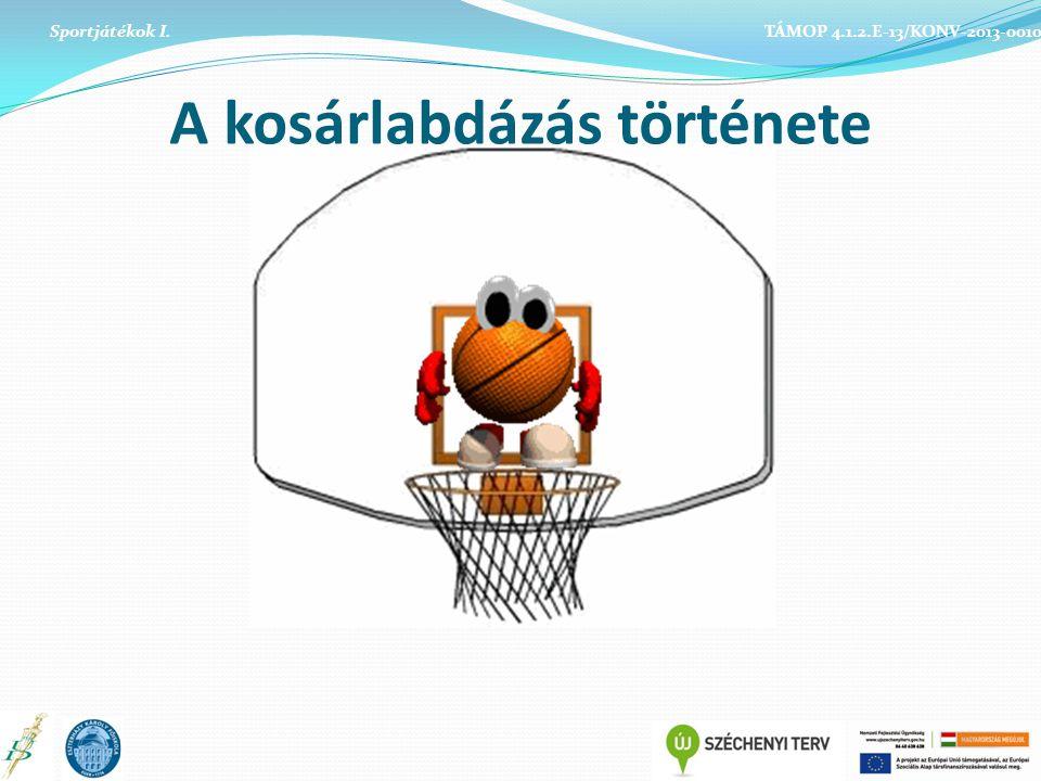Sportjátékok I. TÁMOP 4.1.2.E-13/KONV-2013-0010 A kosárlabdázás története