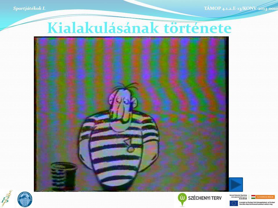 Kialakulásának története Sportjátékok I. TÁMOP 4.1.2.E-13/KONV-2013-0010