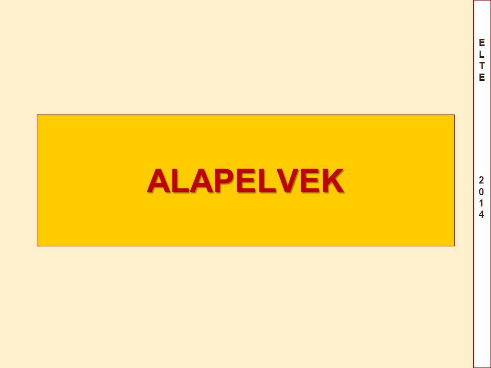 ELTE 2014ELTE 2014 ALAPELVEK