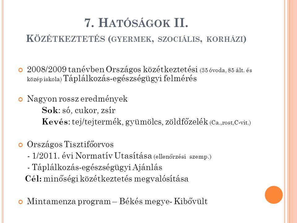 7. H ATÓSÁGOK II.